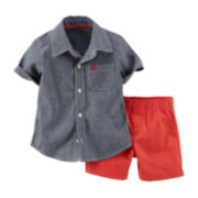 Carter's® Button-Front Shirt and Shorts Set - Baby Boys newborn-24m