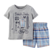 Carter's® Graphic Tee and Plaid Shorts Set – Baby Boys newborn-24m