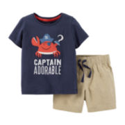 Carter's® Captain Tee and Shorts Set – Baby Boys newborn-24m