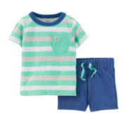 Carter's® Tee and Chambray Shorts Set – Baby Boy newborn-24m