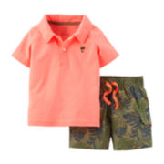Carter's® Polo and Camo Shorts Set - Baby Boys newborn-24m