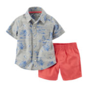 Carter's® Hawaiian Shirt and Shorts Set - Baby Boys newborn-24m