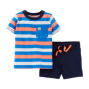 Carter's® Striped Pocket Tee and Shorts Set – Baby Boys newborn-24m