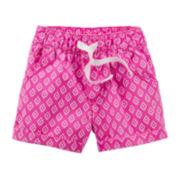 Carter's® Pink Geo Print Shorts - Baby Girl 6m-24m