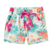 Carter's® Tropical Poplin Shorts - Baby Girls 6m-24m