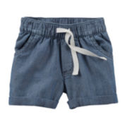 Carter's® Chambray Shorts - Preschool Girl 4-6x