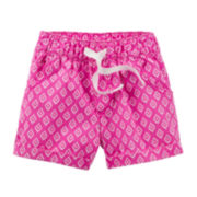 Carter's® Pink Geo Print Shorts - Preschool Girls 4-6x