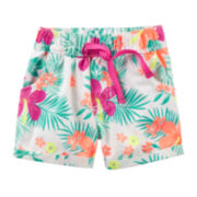 Carter's® Tropical Poplin Shorts - Preschool Girls 4-6x