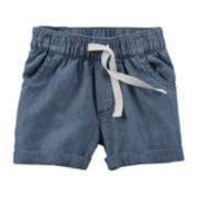 Carter's® Chambray Woven Shorts – Baby Girls 6m-24m