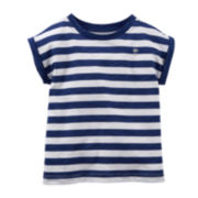 Carter's® Navy Striped Tee - Preschool Girls 4-6x