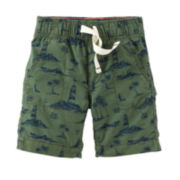 Carter's® Woven Olive Island Shorts – Preschool Boys 4-7