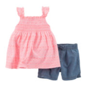 Carter's® Geo Shirt and Denim Shorts Set - Toddler Girls 2t-5t