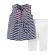 Carter's® Geo Top and Stretch Leggings Set – Toddler Girls 2t-5t