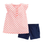 Carter's® Geo Top and Shorts Set - Toddler Girls 2t-5t