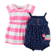 Carter's® Striped Dress and Sunsuit Set - Baby Girls newborn-24m