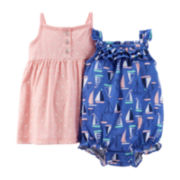 Carter's® Dot Dress and Sunsuit Set - Baby Girls newborn-24m
