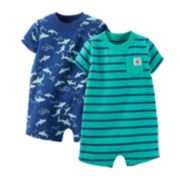 Carter's® 2-pk. Shark Rompers – Baby Boys newborn-24m