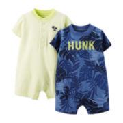 Carter's® 2-pk. Hunk Rompers – Baby Boys newborn-24m