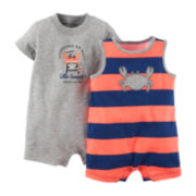 Carter's® 2-pk. Crab Rompers – Baby Boys newborn-24m