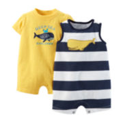 Carter's® 2-pk. Whale Rompers - Baby Boys newborn-24m