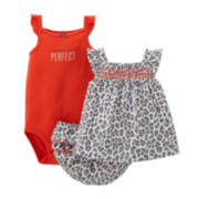 Carter's® 3-pc. Cheetah Apparel Set – Baby Girls newborn-24m