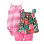 Carter's® 3-pc. Floral Apparel Set – Baby Girls newborn-24m