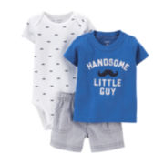 Carter's® 3-pc. Mustache Apparel Set – Baby Boys newborn-24m