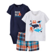Carter's® 3-pc. Sea Explorer Apparel Set – Baby Boys newborn-24m