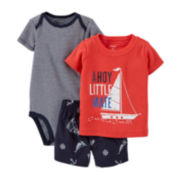 Carter's® 3-pc. Little Mate Apparel Set – Baby Boys newborn-24m
