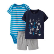 Carter's® 3-pc. Anchors Apparel Set – Baby Boys newborn-24m