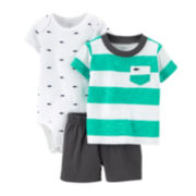 Carter's® 3-pc. Striped Apparel Set – Baby Boys newborn-24m
