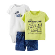 Carter's® 3-pc. Little Dude Apparel Set – Baby Boys newborn-24m