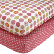 Disney Minnie Petals Perfect 2-pk. Fitted Crib Sheet Set