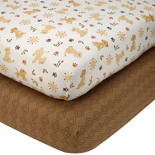 Disney Lion King Wild About You 2-pk. Fitted Crib Sheet Set