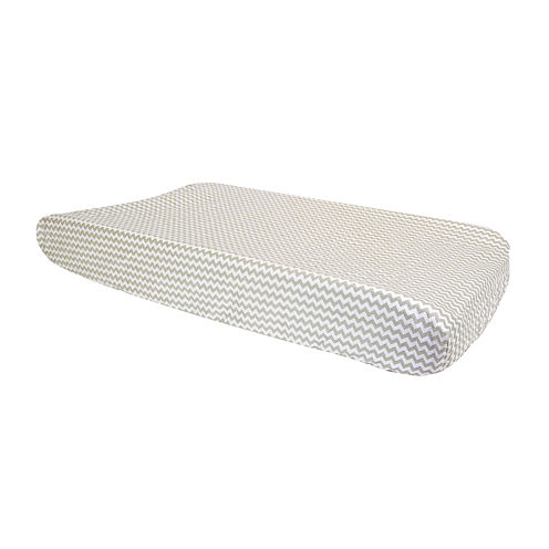 Trend Lab® Dove Gray Chevron Changing Pad Cover