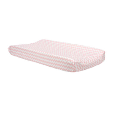 jcpenney.com | Trend Lab® Pink Sky Chevron Changing Pad Cover
