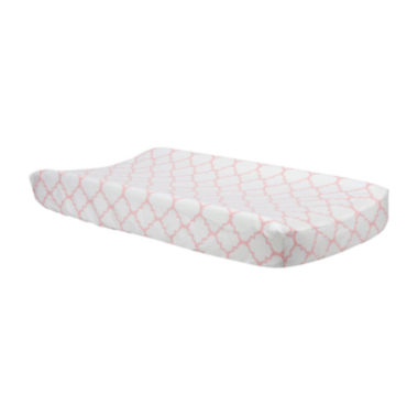 jcpenney.com | Trend Lab® Pink Sky Quatrefoil Changing Pad Cover