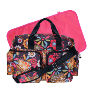 jcpenney.com | Trend Lab® Deluxe Duffle Diaper Bag-Bohemian Floral
