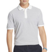 IZOD® Textured Feeder-Stripe Polo