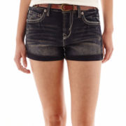 Wallflower Aztec Belted Denim Shorts