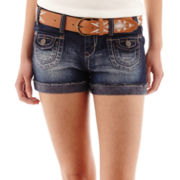 Wallflower Belted Denim Shorties
