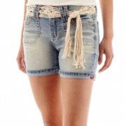 Wallflower Belted Denim Shorts