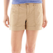 a.n.a® Cuffed Poplin Flap Pocket Shorts