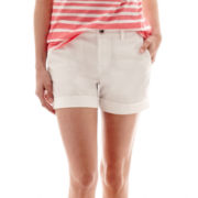 a.n.a® Poplin Utility Shorts - Petite