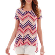 a.n.a® Short-Sleeve High-Low Swing T-Shirt