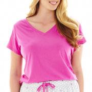 Liz Claiborne® Knit Sleep Tee - Plus