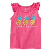 Okie Dokie® Graphic Tank Top - Baby Girls 12m-24m