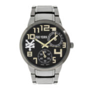 Zoo York® Mens Gold-Tone Gunmetal Gray Bracelet Watch