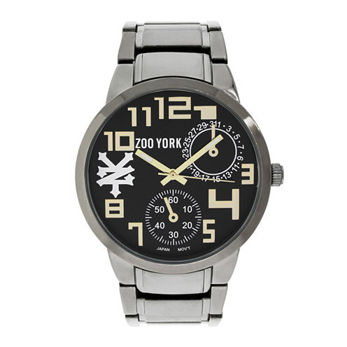 Zoo York® Mens Black And Goldtone Bracelet Watch