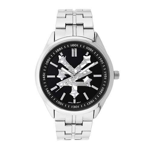Zoo York® Mens Black Silver-Tone Bracelet Watch